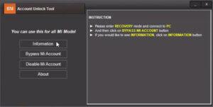 Information Tap Mi Account Unlock Tool